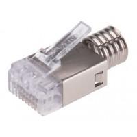 Ficha Plug Rj45 - Amp Blindado