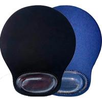 Pad Mouse C/gel Apoya MuÑeca Negro/azul