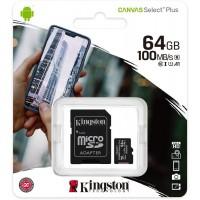 MEMORIA MICRO-SD 64GB KINGSTON CANVAS + ADAPTADOR